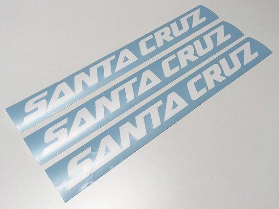 Santa Cruz NOMAD V4 BRONSON HIGHTOWER DECALS AUFKLEBER STICKER HOCHLEISTUNGFOLIE WEISS MATT