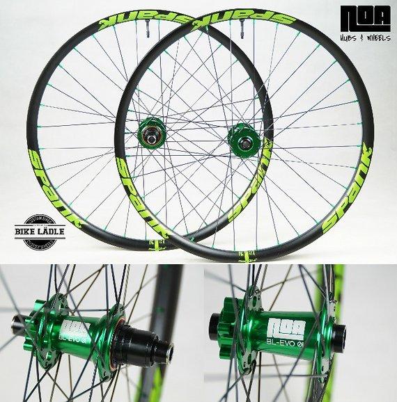Spank Spike 33 Team / 650b EVO Laufradsatz mit Noa-Bl-Evo-1 Naben / Bike-Lädle Laufradbau