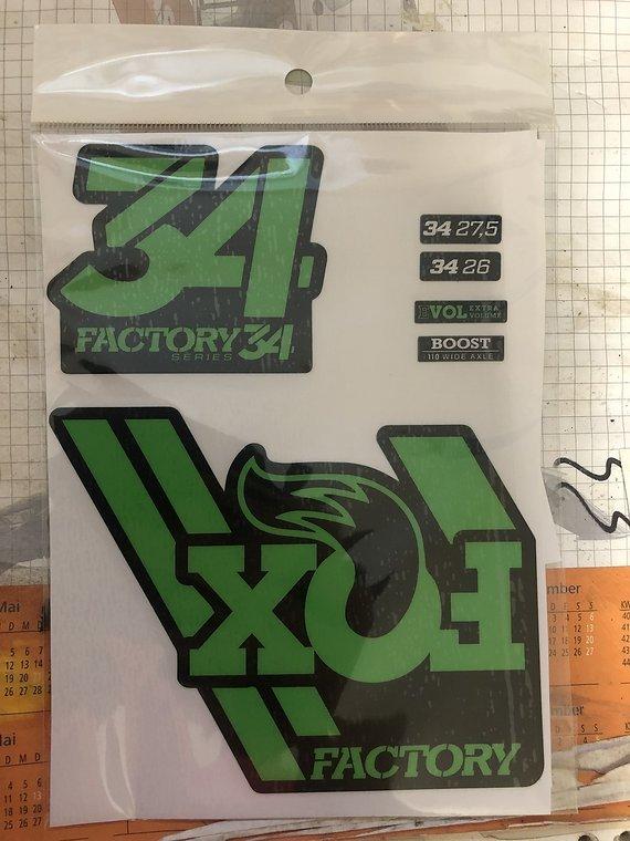 Fox Factory Fox 34 Aufkleber