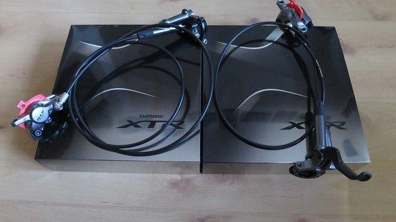 Shimano XTR Bremsen, BL/BR-M9000-L/R, vorne/hinten, fast Neu