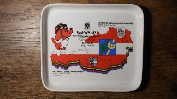 Rad-Wm 1987 Kärnten/Wien Teller, neu