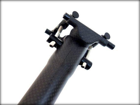 Ultra-Light | 155g | Sattelstütze Carbon Titan | 400 x 31.6mm |3K