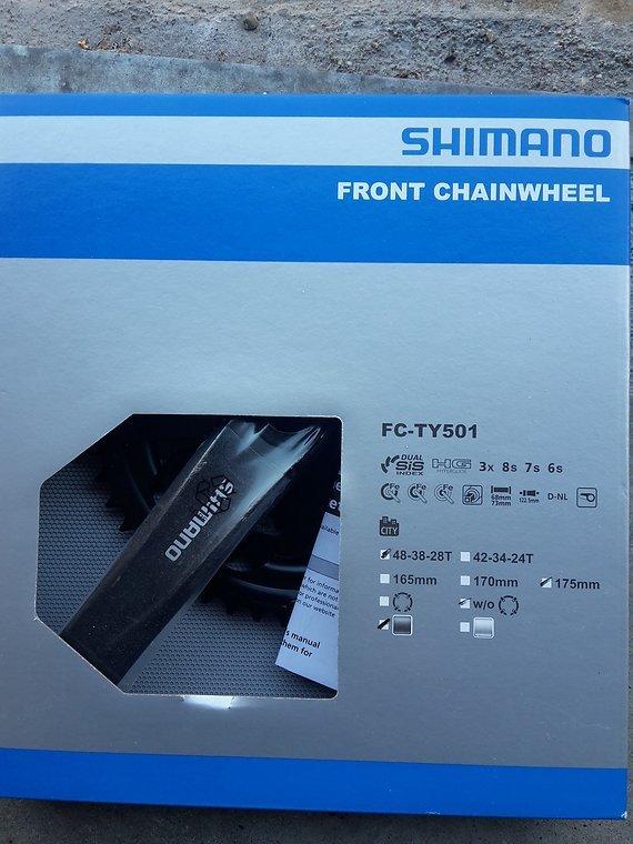 Shimano 3-Fach Kurbel 48-38-28 FC-TY501