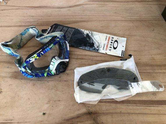 Oakley Mayhem MX/DH Goggle Blue/White