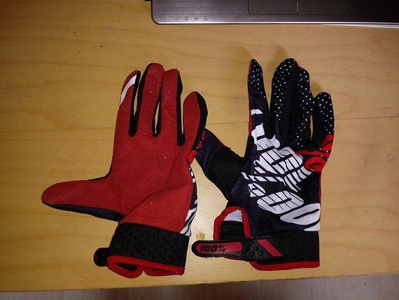 100% Ridefit Gloves Gr. L rot/schwarz