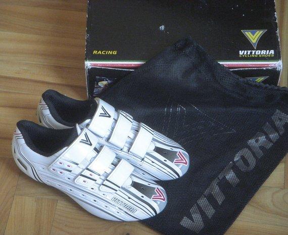 Vittoria Unique Rennrad-Schuhe, Gr. 41 (40), weiß, mit Karton/OVP, super lightweight, fast so leicht wie Giro Prolight