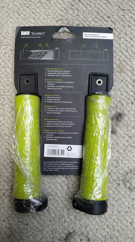 Ergon GA1 Evo Fahrradgriffe grün