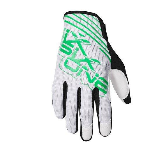661 SixSixOne Raji Gloves / Handschuhe white/green XS
