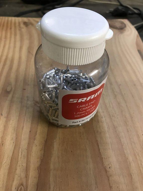 SRAM Shift cable Endkappen SRAM 1.2mm 500 Stück/Neu!