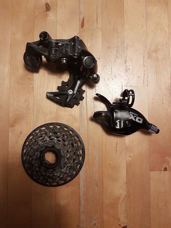 Sram X01 DH Schaltwerk, Trigger und Kassette 7-Speed
