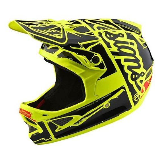 Troy Lee Designs D3 Fiberlite Helm (Factory Flo Gelb)
