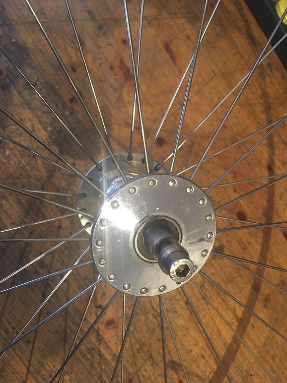 Laufradsatz Phill Wood Naben Mit Ambrosius Felgen Fixed/Free
