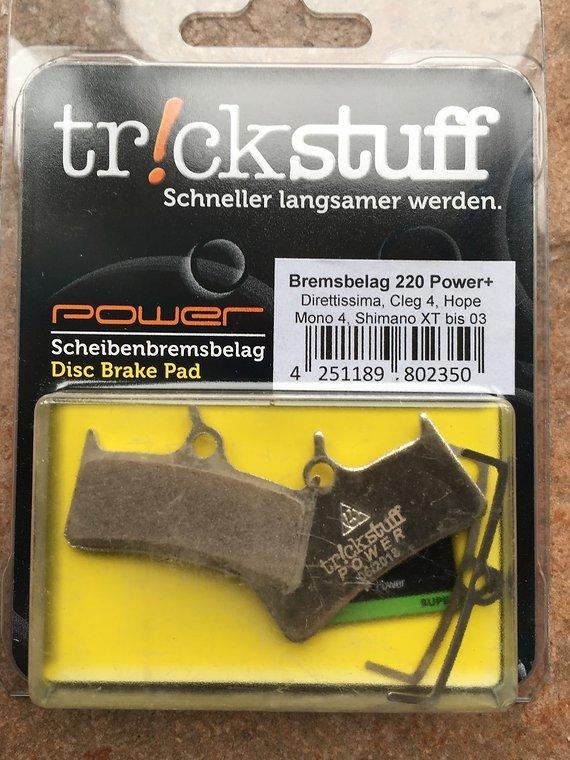 Trickstuff Bremsbelag 220power + 2 Satz / für 2 Bremsen / 4 Einzelbeläge