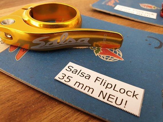 Salsa NEU! OVP! FlipLock  gold 35mm; passend für 31,6 und 30,9 (i.d.R.)