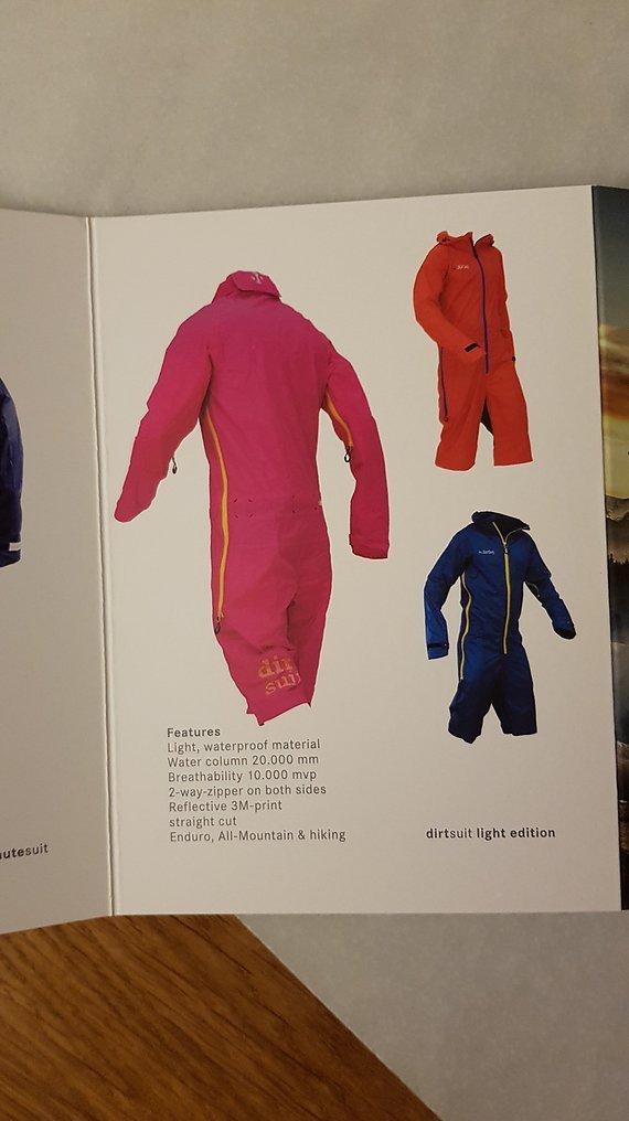 Dirtlej Dirtsuit Light Edition In Pink Gelb Neuer, unbenutzter Regenschutzanzug