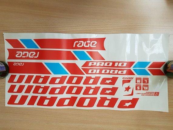 Propain Rage Sticker / Decals Blau Rot