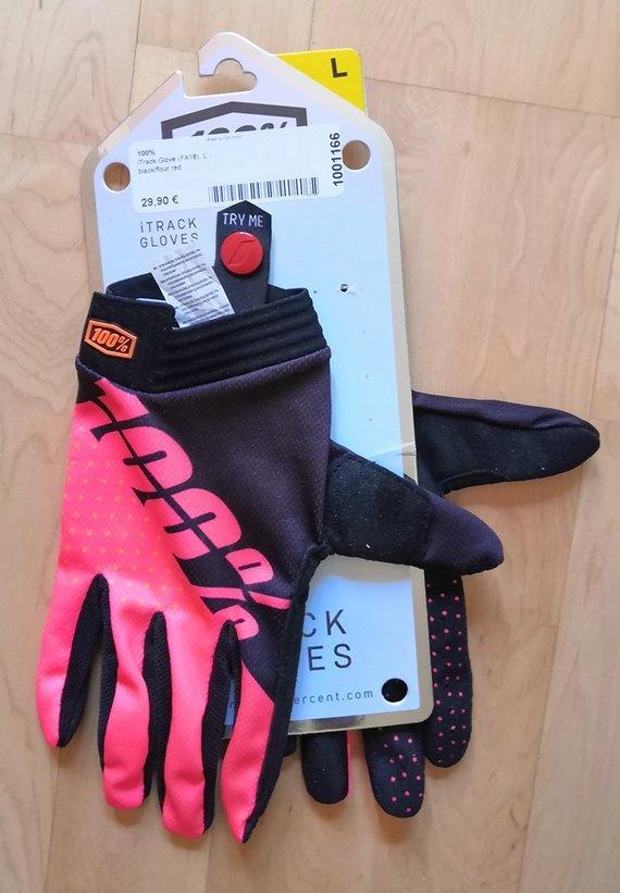 100% itrack Gloves black/flour red Large