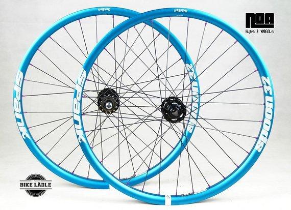 Spank Spoon Singlespeed Laufradsatz mit Noa-BL-EVO SSP / DH Naben / Bike-Lädle Laufradbau