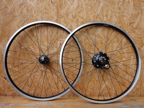 "Rotor Bikes Laufradsatz ""Weltreise 26"" Canti: Rohloff Speedhub, SON 28, Ryde Andra 40, handgefertigt!"