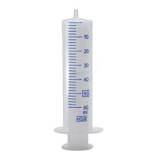 HSW Spritze 60ml zweiteilig Luer |  für Tubeless Befüllung mit Dichtmilch durch das Ventil