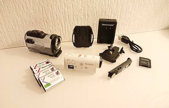 Sony HDR-AZ1 Mini Action Cam Zeiss NFC WiFi HD SteadyShot