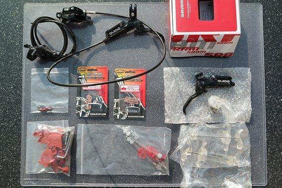 SRAM Guide R mit Sram professional Bleeding Kit und zwei Satz neuen Bremsbelägen