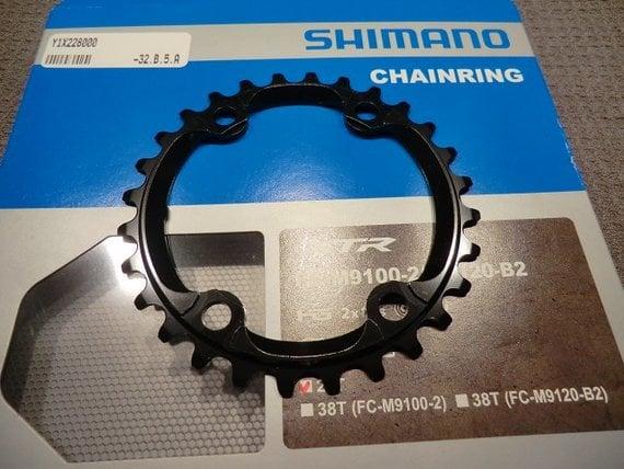 Shimano XTR Kettenblatt 28 Zähne für Kurbel XTR 9100-2 und 9120-2, negelneu!