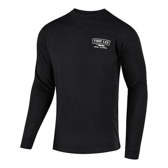 Troy Lee Designs Flowline L/S Tech Tee Shirt, Black LG