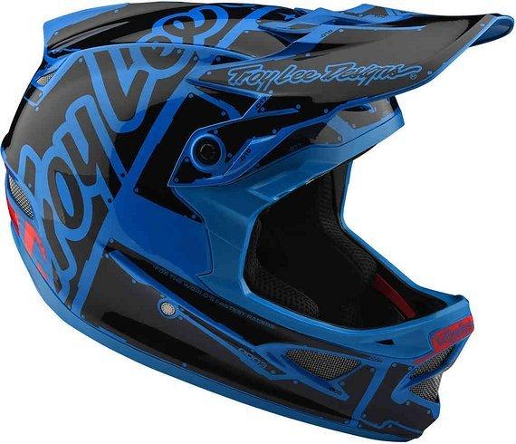 Troy Lee Designs D3 Fiberlite Helm (Factory Ocean)