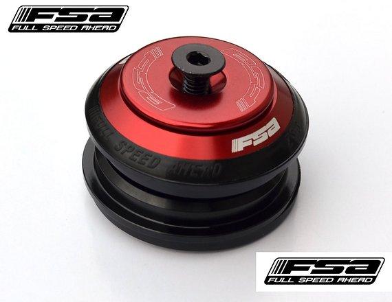 """FSA Orbit ZS-3 1 1/8"""" press-fit semi-integriert (ZS44/ZS44) FLAT TOP rot/sw"""