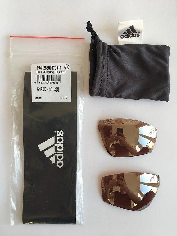 Adidas Ersatzgläser Adidas Evil Eye Halfrim Pro S (A168) LST Active silver hydrophob NEU